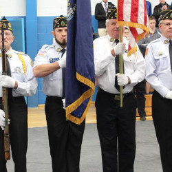 Members of the Chester L. Briggs American Legion Post 47 Color Guard are seen in this file photo.