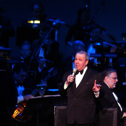 Frank Sinatra Jr. performs at the Cerritos Center for the Performing Arts in Cerritos, California, in 2003. Sinatra died Wednesday at the age of 72.