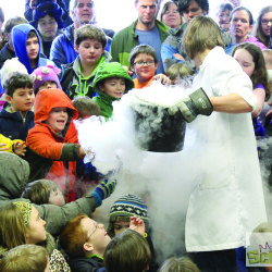 Folks from Mad Science of Maine give a demonstration at the 2015 Maine Science Festival.