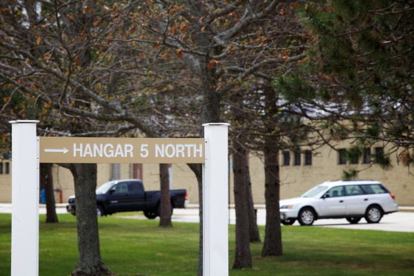 Hangar number five at Brunswick Landing on the former U.S. Navy base.