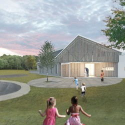 The new Cornerspring Montessori School was designed by GO Logic, a Belfast architecture and construction firm. It will be the first Montessori school in Maine to target Passive House certification.