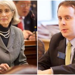Rep. Peggy Rotundo, D-Lewiston, and Sen. Eric Brakey, R-Auburn.