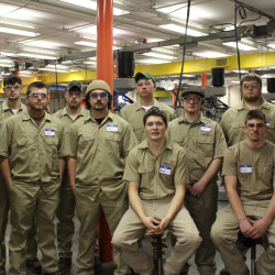 Participating students in the SkillsUSA Maine Precision Machining Competition were Jacob Hilton, Sam Berry, Cody Beaudoin, Corbin Dostie, Justin Bowan, Jahmai Bartlett, Isaac Stone, Nick Bragg, Jacob Murphy, Evan Champman, Nate Clowes and Matt Estabrook.