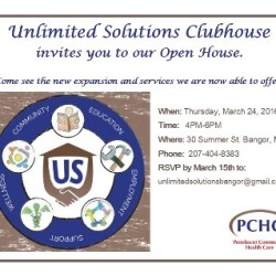 Unlimited Solutions Clubhouse Hosting March 24 Open House.