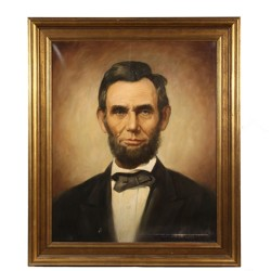 Oil on canvas portrait of Abraham Lincoln that brought $3,300