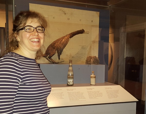 Penobscot Marine Museum Collections Manager Cipperly Good traveled to Washington, D.C. to visit the museum's 19th century guano bottle artifact that is on display at the Smithsonian's National Museum of American History in Washington, D.C.