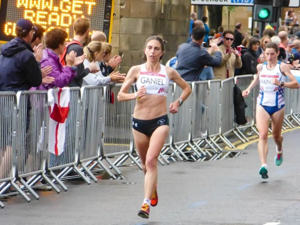 Maine native Gladys Ganiel is shown competing in the marathon at the Commonwealth Games in July 2014 in Glasgow, Scotland. The Narraguagus High School and Providence College graduate now lives and works in Belfast, Northern Ireland.