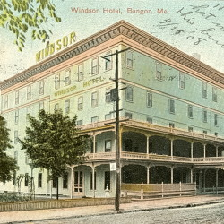 The Windsor Hotel in Bangor before the fire of 1911.
