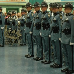 Maine''s 14 newest troopers received their badges in ceremonies at the Maine Criminal Justice Academy in Vassalboro in this April 2016 photo.