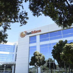 The headquarters of SunEdison is shown in Belmont, California, recently.