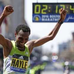 Kenyan lawmaker faces fast field in Boston Marathon