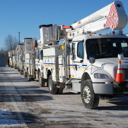 Crews from Emera Maine travel to Delaware in January to help restore power to customers affected by a deadly blizzard.