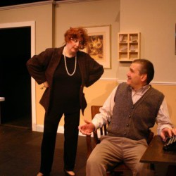Julie Lisnet and Ron Lisnet play Basil and Sibyl Fawlty in Ten Bucks Theatre Company's new show.