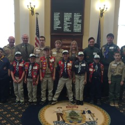 State Sen. David Burns with Cub Scout Troop 139, Boy Scout Troop 139, and Venture Scout Troop 139.