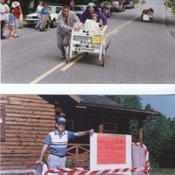 Good Neighbors images of the Bed Race held on Union's 1994 Founders Day