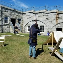Civil War reenactor, Duane Wardwell, interprets life as a soldier.