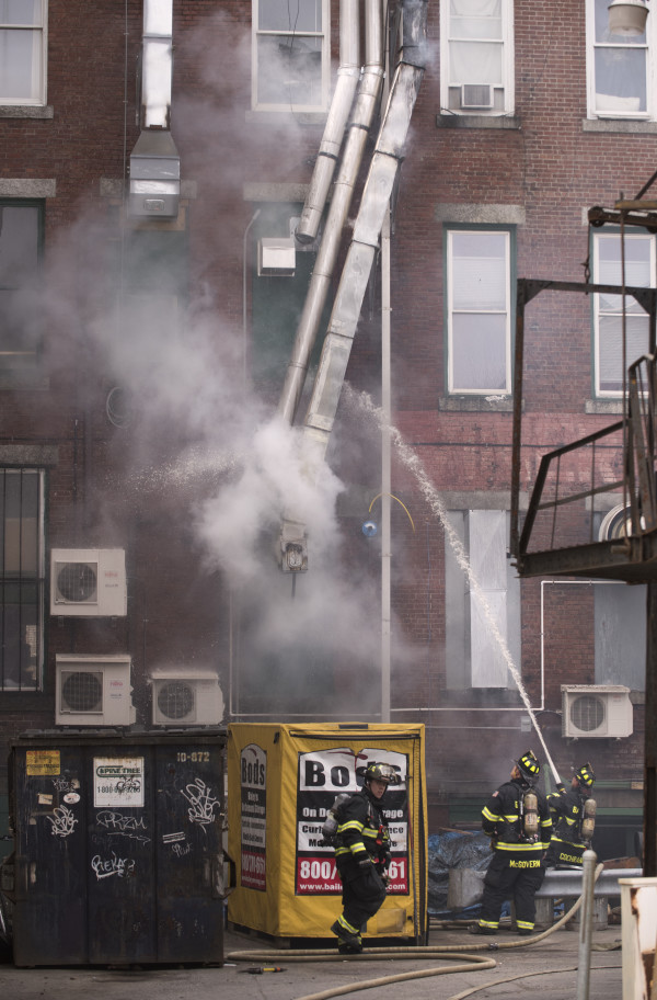 how to how to put out fire in fireplace : Chimney fire forces evacuation of building in downtown Bangor ...