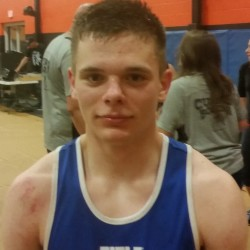 Christian Fisk of Rockport and Wyman's Boxing Club on Saturday scored a three-round split decision over Elias Valdez during an amateur boxing show in Newton, Massachusetts.