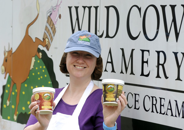 Sarah Wilder, along with her husband, Ryan Cowan, started their own small batch ice cream business called Wild Cow Creamery in 2013. In just 3 seasons, they have made over 80 flavors and always have 8 to 12 different flavors available at any one time.
