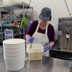 Ice cream makers work to keep up with demand