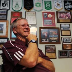 Ellsworth High School soccer coach Brian Higgins is shown in 2011.