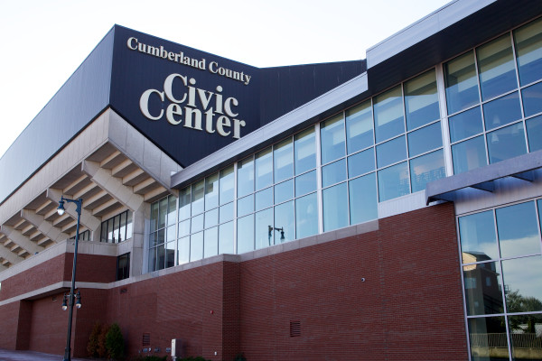 The former Cumberland County Civic Center, now known as the Cross Insurance Arena.