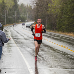 P.J. Gorneault of Caribou competes in the 34th Sugarloaf Marathon Sunday. He won the race with a time of 2 hours, 35 minutes, 24.5 seconds.