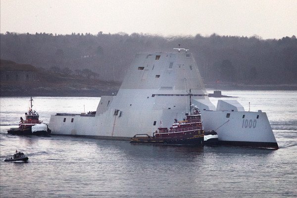 Navy Accepts First Stealth Destroyer From Maine Shipyard