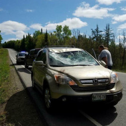 Mother, child injured in single-vehicle accident in Aroostook County