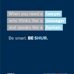 Sample advertisement from Bernstein Shur's award-winning new brand identity and advertising campaign.