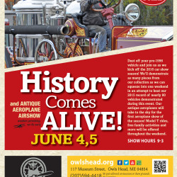 Cars, aircraft and more will be demonstrated and on display at the museum's  History Comes Alive event, June 4 and June 5. Rides in premier museum collection  automobiles will be offered on a limited basis as part of the demonstration process.