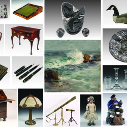 A sampling of the diverse array of items on offer through Thomaston Place Auction Galleries' Spring Online Timed Auction - May 24 - June 7