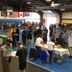 Students from a number of area Bangor area high schools try to make 'sense' of finances and money management at the Financial Fitness - Money Management Experience event at EMCC in Bangor.  The event is coordinated by the Bangor Chapter of Credit Unions and the Maine Credit Union League.