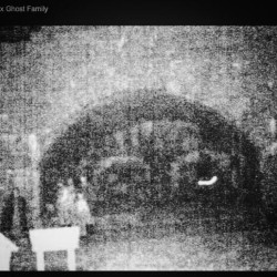 "Enhanced photo that East Coast Ghost Trackers refer to as ""The Ghost Family."""