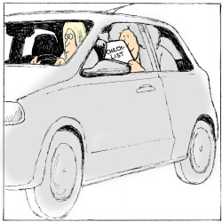 Pumping the imaginary brake, parents are teens' ultimate driving coaches
