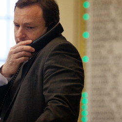 Speaker of the House Mark Eves, D-North Berwick, talks on the phone in the State House in Augusta, Jan. 14, 2016.