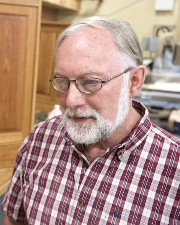 Lester Stackpole is the department chair of the fine woodworking and building construction programs at Eastern Maine Community College.