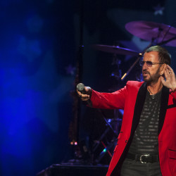 Ringo Starr amps up the audience during his show with his All-Starr Band on Wednesday at the Cross Insurance Center in Bangor.