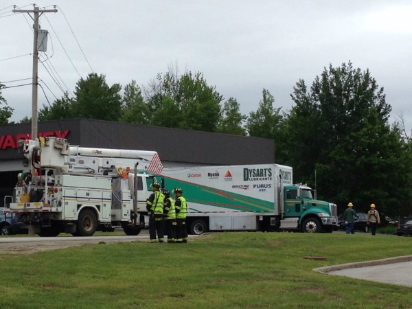 Officials No Injuries After Electrical Wires Fall On Top