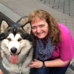 Baloo the malamute was more than happy to pose for a photo with Julia Bayly.