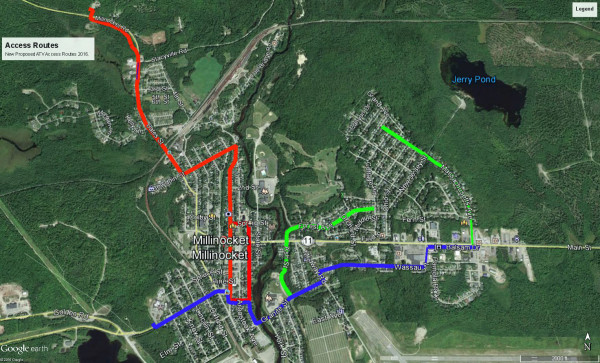 'It opens up the community': Millinocket expands ATV trail ... on maine map with counties and towns, maine golf course map, rumford maine map, 89 maine its trail map, indian peaks utah map, south mountain hiking trails map, harney peak sd trail map, baxter state park trail map, maine hiking trail map, maine snowmobile association, maine coast cities map, maine salmon falls river, state of maine city town map, maine real estate map, jackman trail map, vermont atv trails map, maine gazetteer online, maine moose loop trail map, maine huts trail maps, presque isle maine airport map,