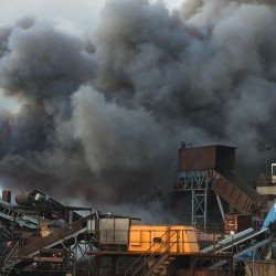 Portland recycling center fire that burned 2,000 square feet of debris still under investigation