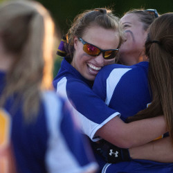 Bucksport celebrates after defeating Mattanawcook during their softball game Tuesday at Coffin Field in Brewer.