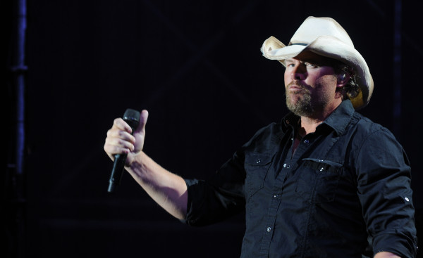 Toby Keith performs on stage at the Bangor Waterfront on Saturday, July 9, 2011.