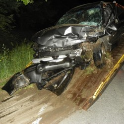 A woman was killed in a crash in Sidney late Wednesday night.
