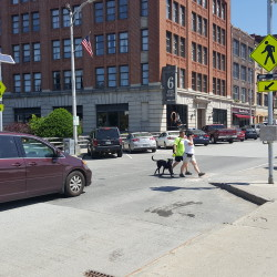 Bangor installs new crosswalk, lights at intersection where fatal hit-and-run occurred