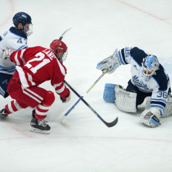 No three-quarter face shields yet; 4-on-4 overtime now optional in college hockey