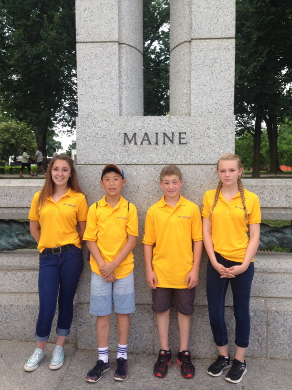 Eighth-graders Grace Fitzjurls, Josh Chun, Vincent Bonarrigo and Sydni Moores from the Troy Howard Middle School in Belfast went on an all-expense-paid trip to Washington, D.C. in June because their eCYBERMISSION team, Power Play, did so well in a national science and engineering competition.