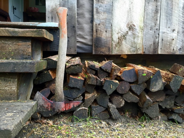 The tools of wood forager Ryan Deane of Down and Back Wood Salvage.