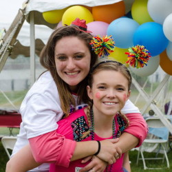 Friends Sami Wilson (left) of Orono and Marie Miller of Blanchard Township are gearing up to participate in the 4K For Cancer.
